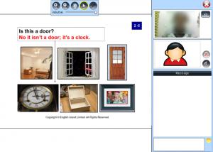 e英会話のカランメソッドのレッスン画面